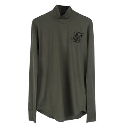 SikSilk - SikSilk - Balıkçı Yaka Haki Sweatshirt