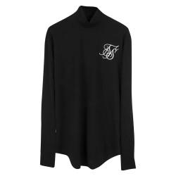SikSilk - SikSilk - Balıkçı Yaka Siyah Sweatshirt