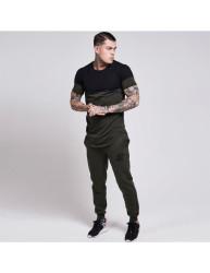 Siksilk - Siyah & Haki T-shirt - Thumbnail