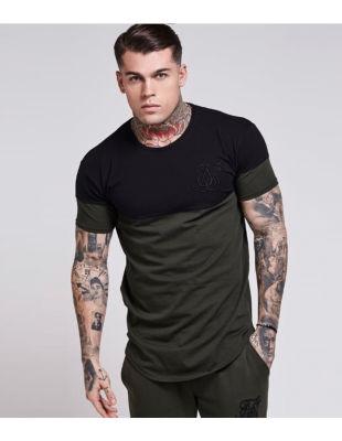 Siksilk - Siyah & Haki T-shirt