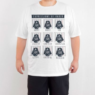 Bant Giyim - Star Wars Darth Vader 4XL Beyaz T-shirt