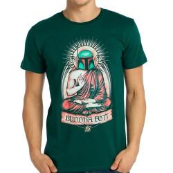 Bant Giyim - Star Wars Buddha Fett Boba Fett Yeşil T-shirt - Thumbnail