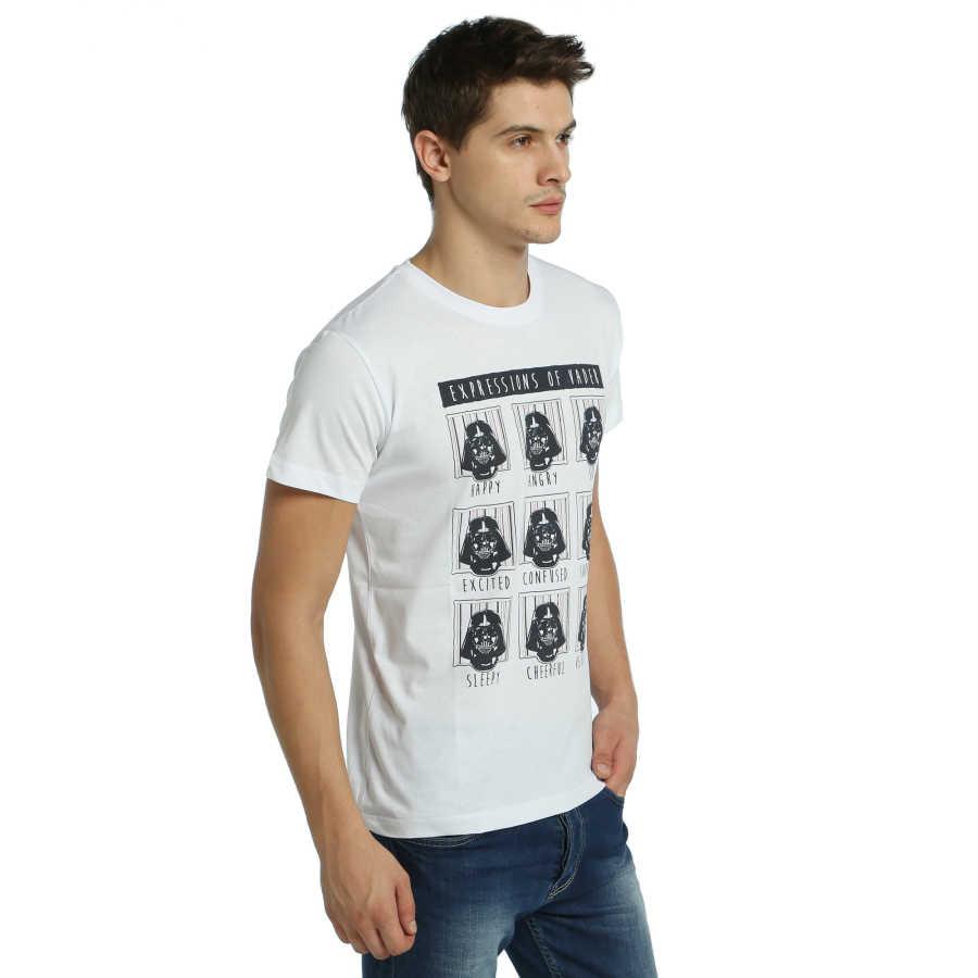 Bant Giyim - Star Wars Darth Vader Beyaz T-shirt