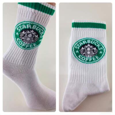 Starbucks Coffee Beyaz Çorap