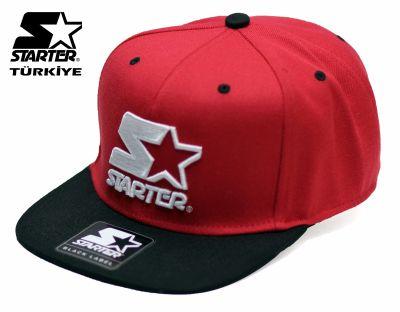 Starter - Starter Logo Red Snapback Cap