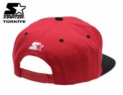 Starter Logo Red Snapback Cap - Thumbnail