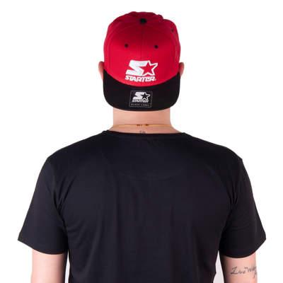 Starter Logo Red Snapback Cap