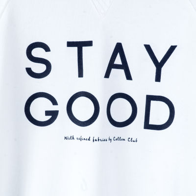 Stay Good Beyaz Sweatshirt