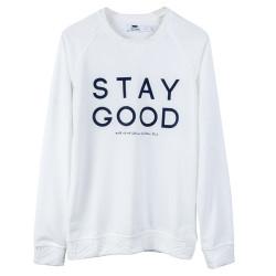 Stay Good Beyaz Sweatshirt - Thumbnail