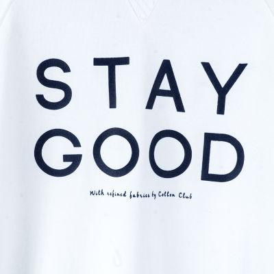 Stay Good Beyaz Sweatshirt