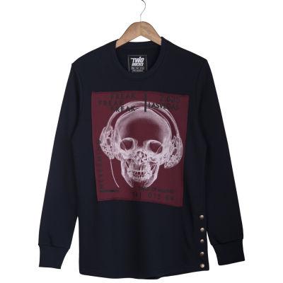 Two Bucks - Never Mind Lacivert Sweatshirt