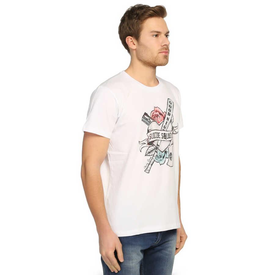 Bant Giyim - Suicide Squad Harley Quinn Beyaz T-shirt
