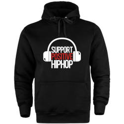 HH - Support Positive HipHop Cepli Hoodie - Thumbnail