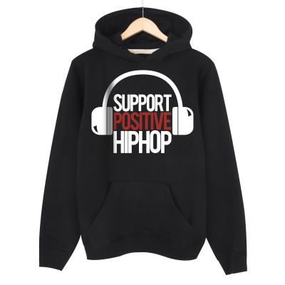 HH - Support Positive HipHop Siyah Hoodie