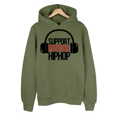 HollyHood - Support Positive HipHop Haki Hoodie