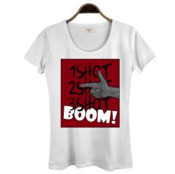Tankurt Manas - HollyHood - Tankurt Boom Kadın Beyaz T-shirt