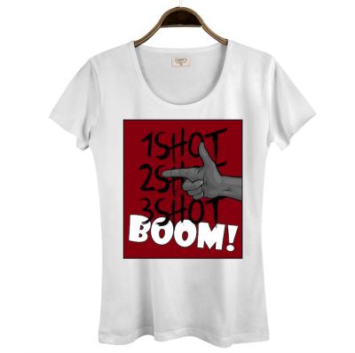 Tankurt Manas - HH - Tankurt Boom Kadın Beyaz T-shirt