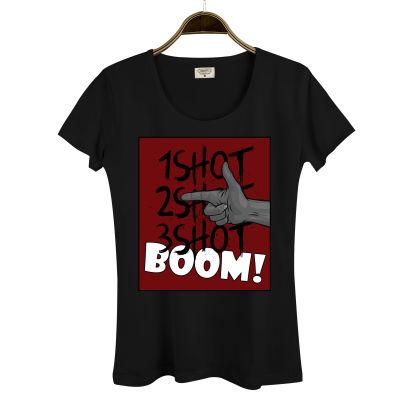 Tankurt Manas - HH - Tankurt Boom Kadın Siyah T-shirt