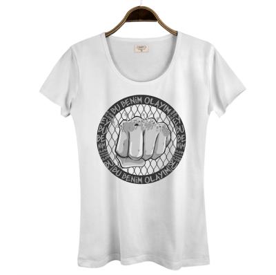 HH - Tankurt Bu Benim Olayım Kadın Beyaz T-shirt