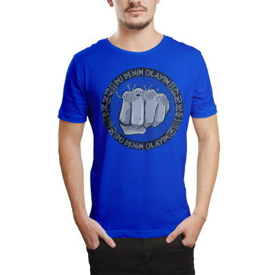 HH - Tankurt Bu Benim Olayım Mavi T-shirt