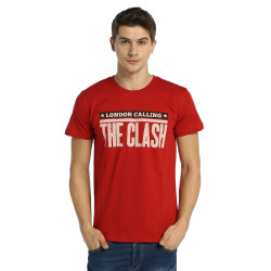 Bant Giyim - Clash London Calling Kırmızı T-shirt - Thumbnail