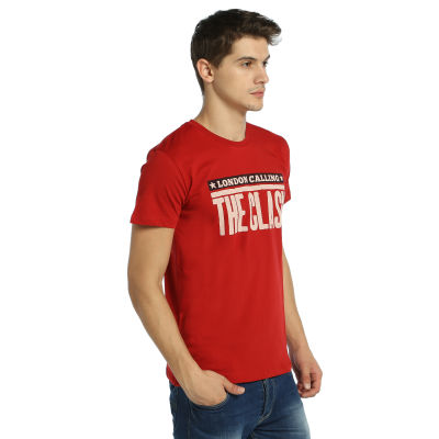 Bant Giyim - Clash London Calling Kırmızı T-shirt
