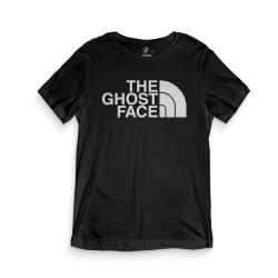 HH - The Ghost Face Siyah T-shirt - Thumbnail