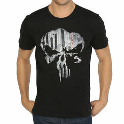 Bant Giyim - The Punisher Siyah T-shirt - Thumbnail