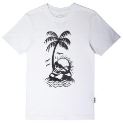 The Roof - Sun Bath Skull Beyaz T-shirt - Thumbnail
