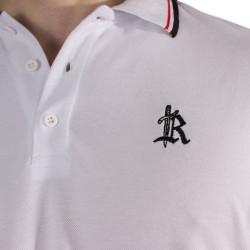 The Roof - Main Logo Optic White Polo T-shirt - Thumbnail