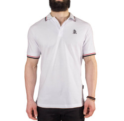 The Roof - The Roof - Main Logo Optic White Polo T-shirt