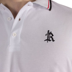 The Roof - Main Logo Optic White Polo T-shirt - Thumbnail