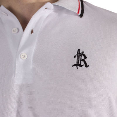 The Roof - Main Logo Optic White Polo T-shirt