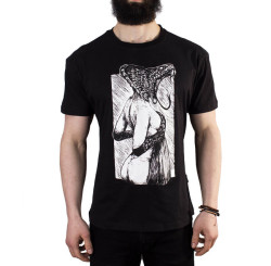 The Roof - Snake Girl Black T-shirt - Thumbnail