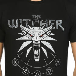 Bant Giyim - The Witcher Wild Hunt Siyah T-shirt - Thumbnail