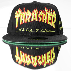 HollyHood - Thrasher Magazine Siyah Snapback Cap