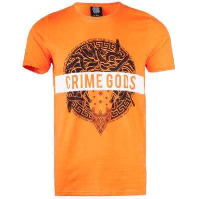 Thug Life - Crime Gods Strip Turuncu T-shirt