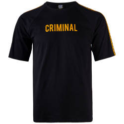 Thug Life - Criminal Over Siyah T-shirt - Thumbnail