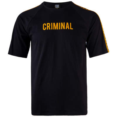 Thug Life - Criminal Over Siyah T-shirt