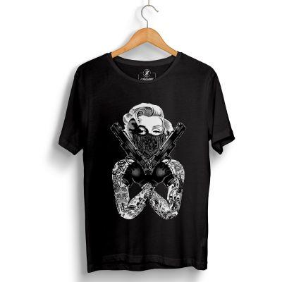 HH - Thug Marilyn Siyah T-shirt