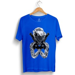 HH - Thug Marilyn Mavi T-shirt - Thumbnail
