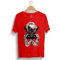 HH - Thug Marilyn Kırmızı T-shirt - Thumbnail