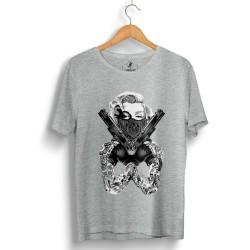 HH - Thug Marilyn Gri T-shirt - Thumbnail