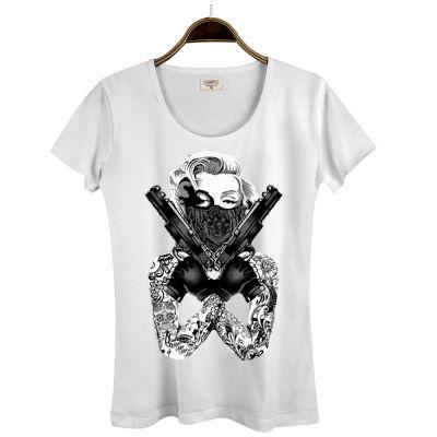 HH - Thug Marilyn Kadın Beyaz T-shirt