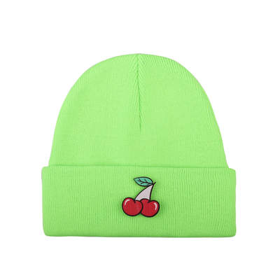 HollyHood - Tolgy's Cherry Maskotlu Fosforlu Yeşil Bere
