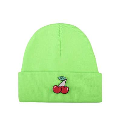 Tolgy's Cherry Maskotlu Fosforlu Yeşil Bere