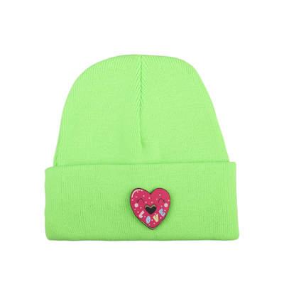 Tolgy's Love Maskotlu Fosforlu Yeşil Bere