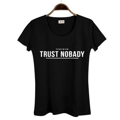 HH - Trust Nobady 2 Kadın Siyah T-shirt
