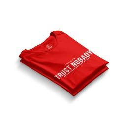 HH - Trust Nobady 2 Kırmızı T-shirt - Thumbnail
