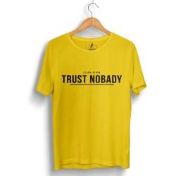 HH - Trust Nobady 2 Sarı T-shirt - Thumbnail